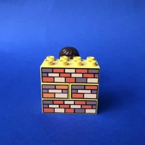 poppetje achter muur