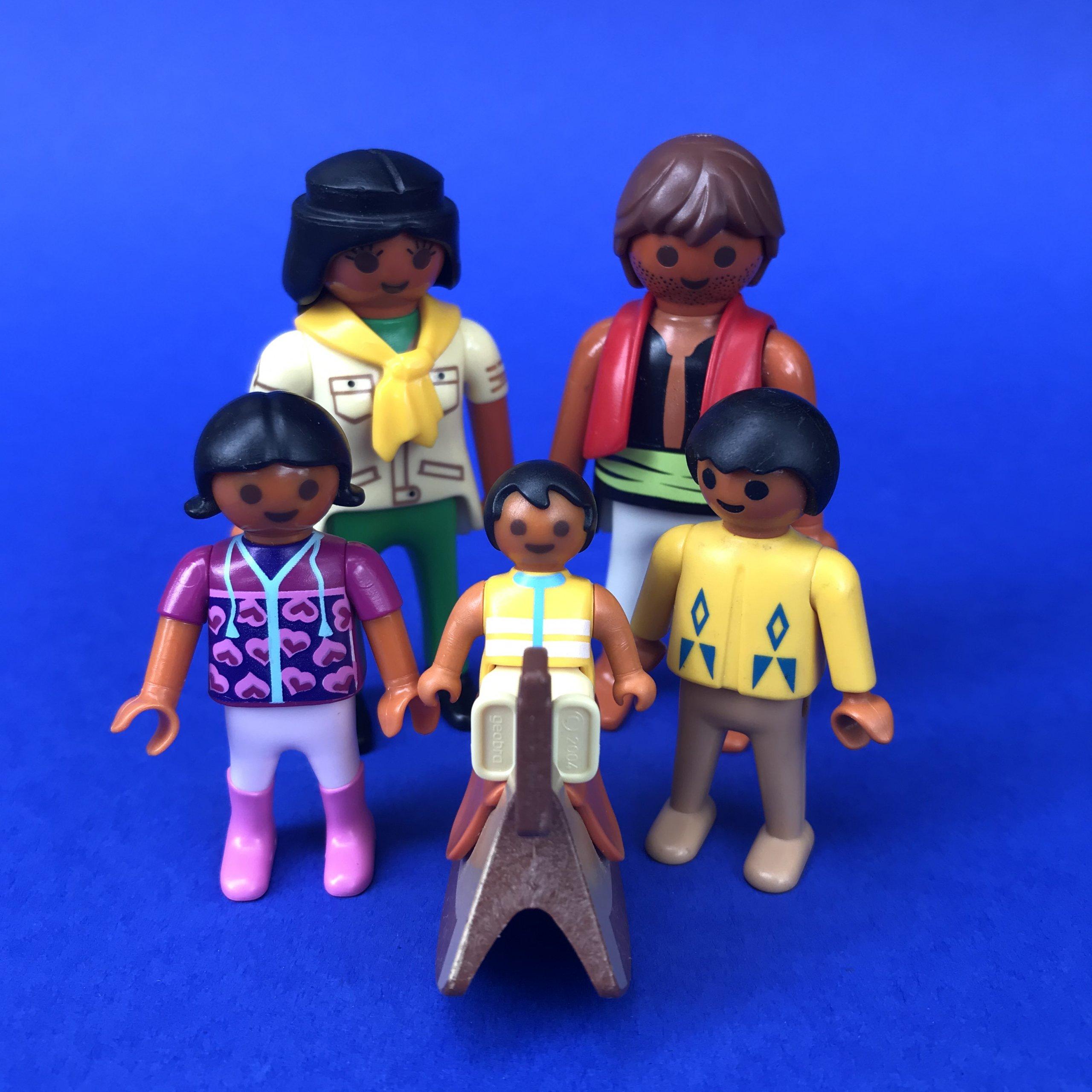 Playmobil-gezin-getint