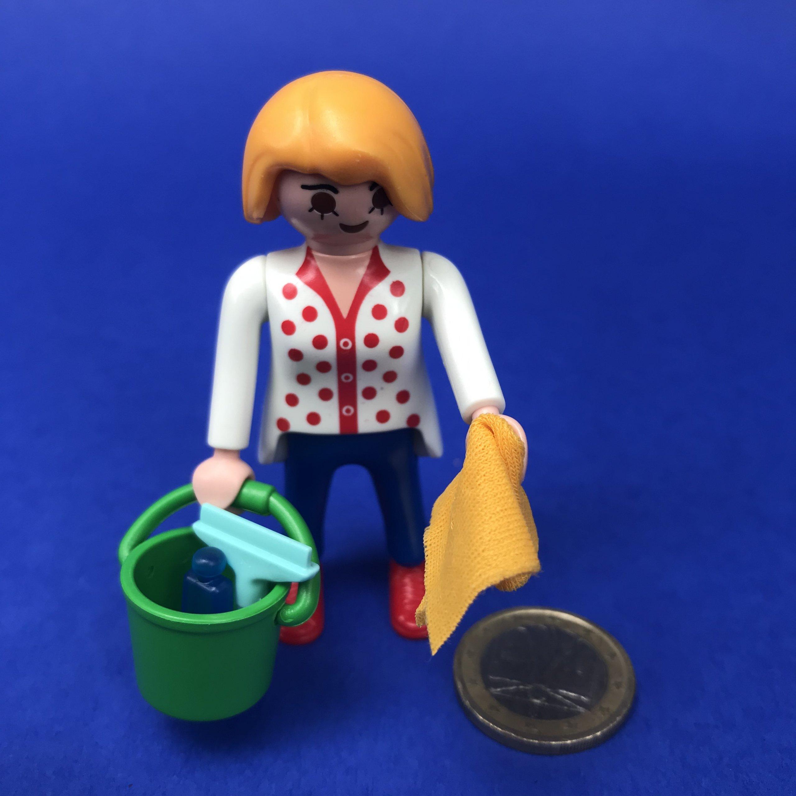 Playmobil-poetsvrouw